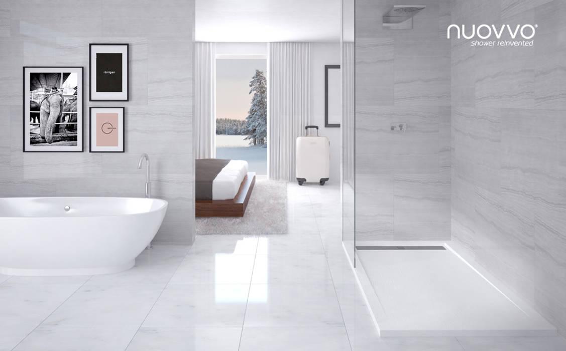 Ambiente con plato de ducha STONE: Baños de estilo  de NUOVVO, Minimalista