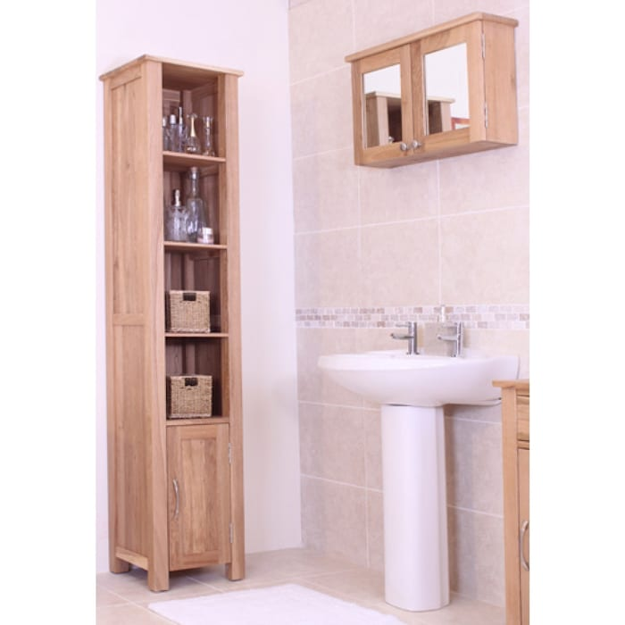 Bonsoni Mobel Oak Wall Mounted Bathroom Cabinet (Large) von homify Rustikal