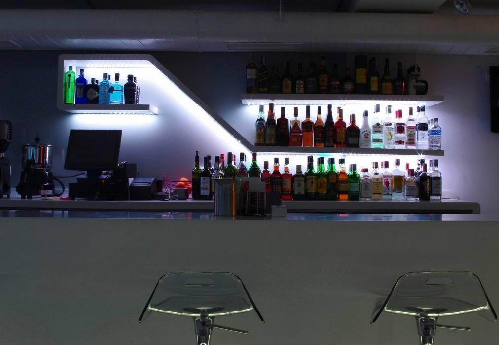 Estanter a de trasbarra retroiluminada bares y clubs de - Estanterias para bares ...