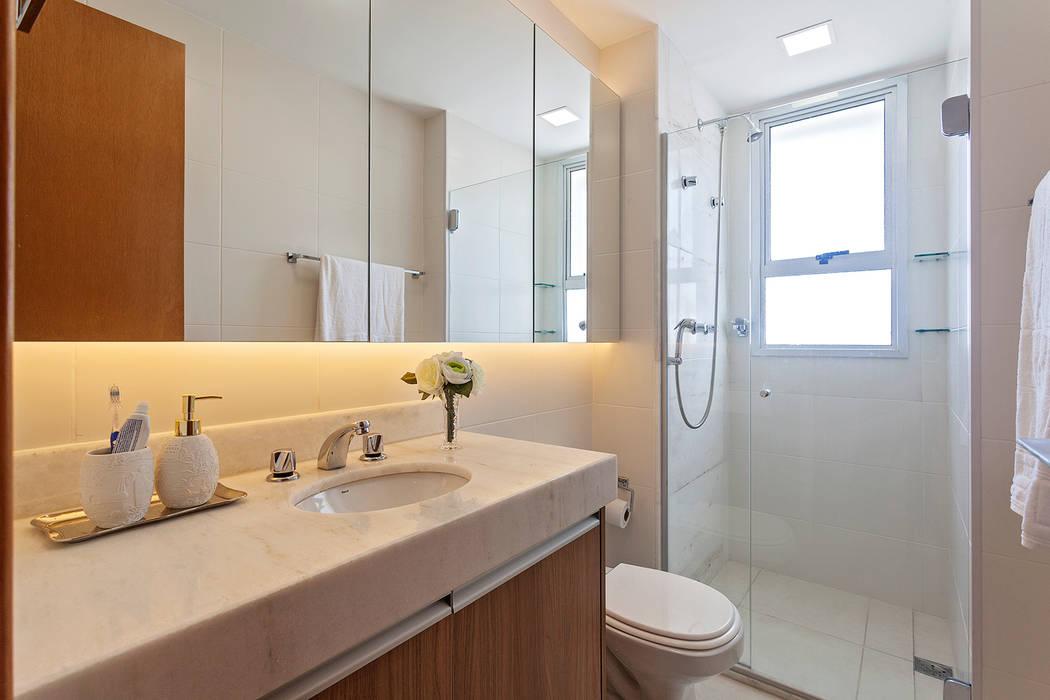Apartamento MD: Banheiros  por ÓBVIO: escritório de arquitetura