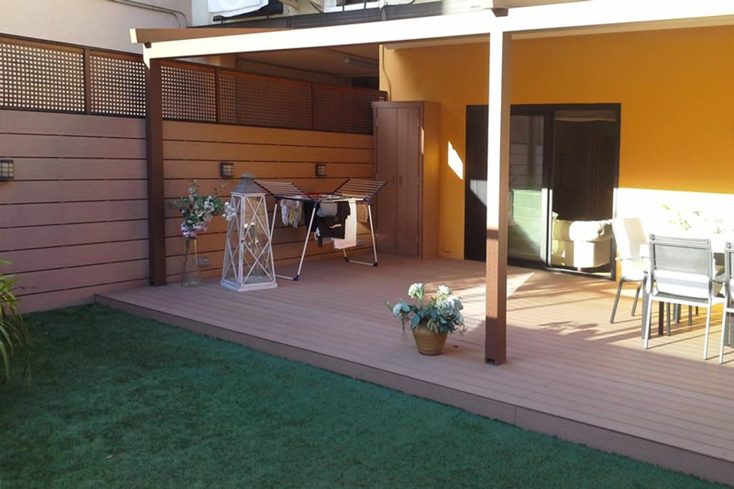 Proyecto de interiorismo de terraza Vicente Galve Studio Balcones y terrazas de estilo mediterráneo
