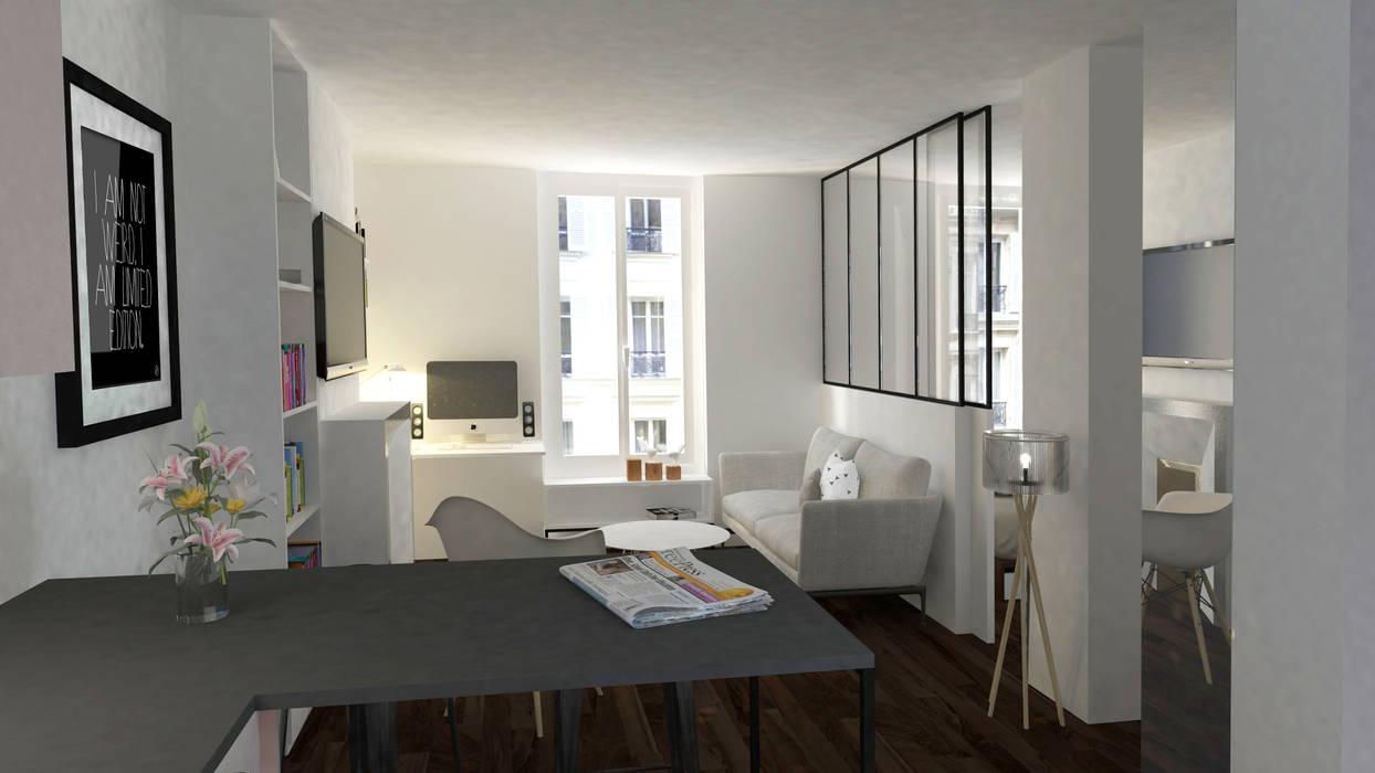 Appartement Levallois : Salon de style de style Moderne par Silvia Gianni