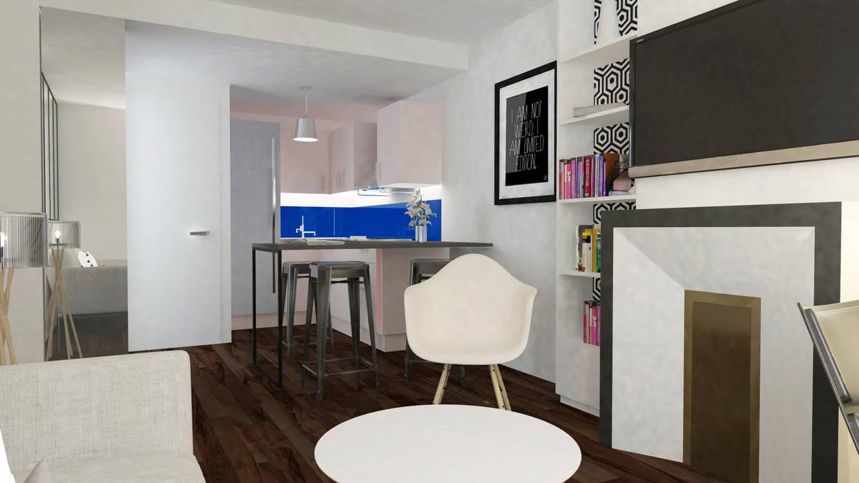 Appartement Levallois: Cuisine de style  par Silvia Gianni