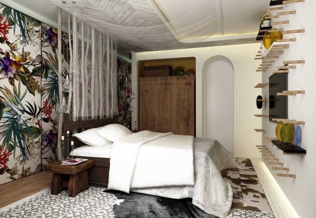 Спальня Спальня в средиземноморском стиле от WhiteRoom Средиземноморский