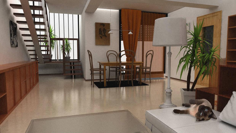 Vista dal soggiorno (ANTE-OPERAM): Sala da pranzo in stile in stile Moderno di Architetti StudiOppure