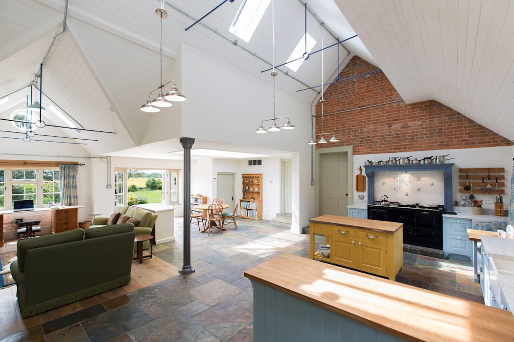 Traditional Farmhouse Kitchen Extension, Oxfordshire Dapur Gaya Country Oleh HollandGreen Country