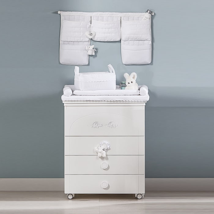 'Miro' White changing table with drawers by Picci: modern  by My Italian Living, Modern Wood Wood effect