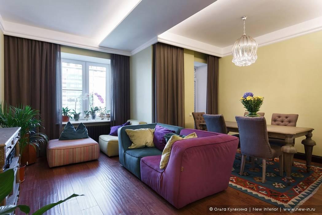 Ольга Кулекина - New Interior Salas de estilo colonial Multicolor
