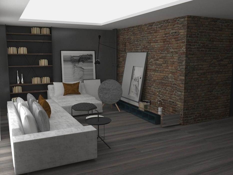 Modern living room by pedroavila.com.mx Modern