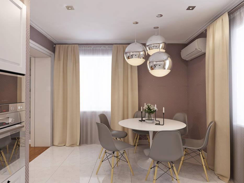 Дизайн загородного дома: Кухни в . Автор – White & Black Design Studio, Модерн