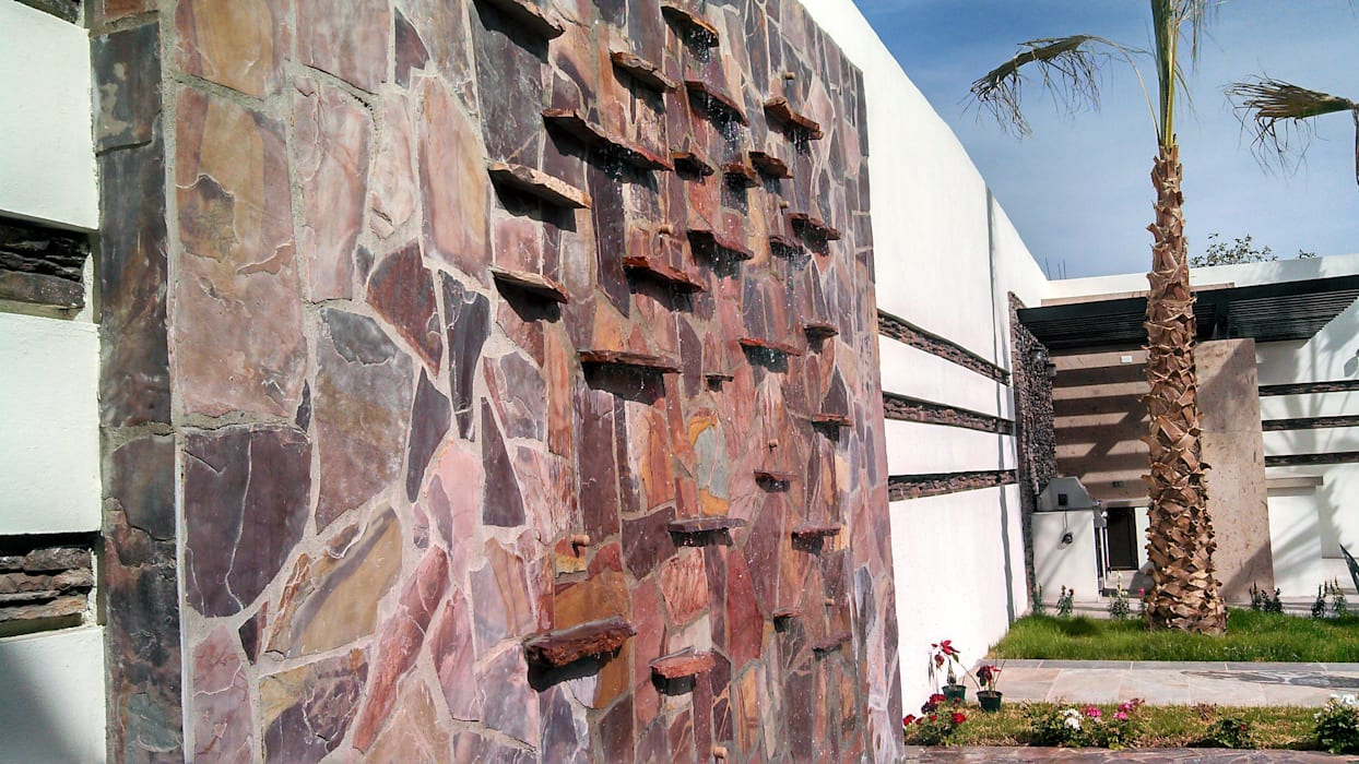 Fuente Muro lloron Jardines de estilo moderno de Acrópolis Arquitectura Moderno