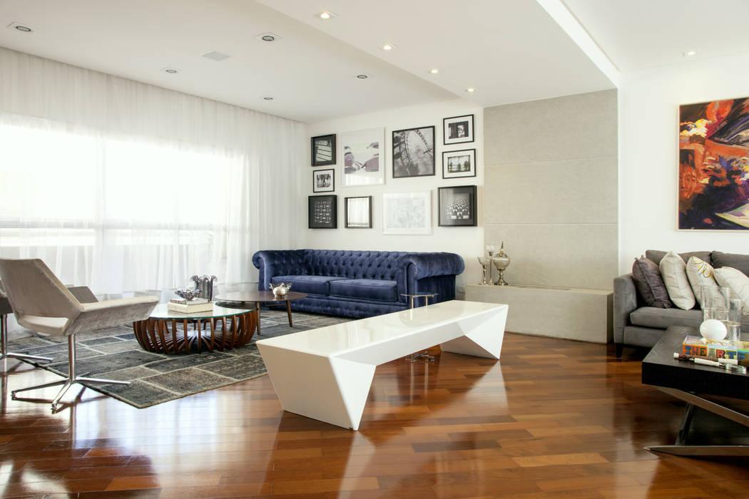 CASA MN Salas de estar modernas por Michelle Machado Arquitetura Moderno