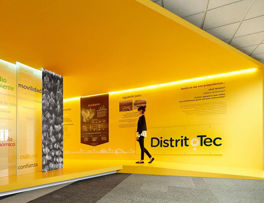 Showroom DistritoTec Escuelas de estilo ecléctico de CUATRO44 Ecléctico