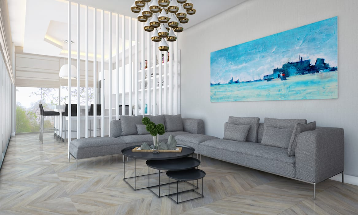 Voltaj Tasarım – AA EVİ:  tarz Oturma Odası, Minimalist