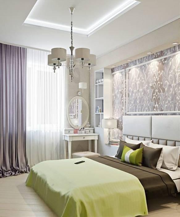 Дизайн проект квартиры в Коломягах: Спальни в . Автор – MoRo, Классический