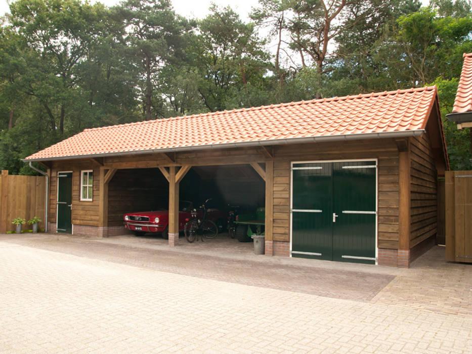 Houtbouw Garage Schuur : Houten garages: garage schuur door geldersche houtbouw homify
