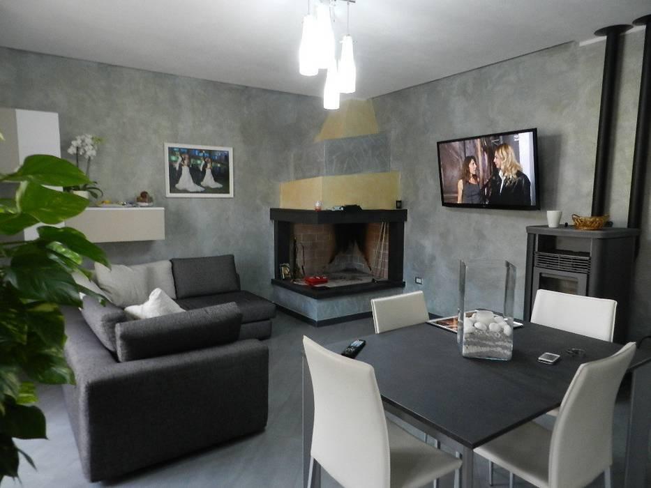Casa G&V Soggiorno moderno di SOGEDI costruzioni Moderno