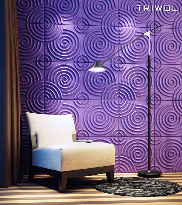 Group Enerji Yapı Dekorasyon – TRIWOL RIPPLE 3D DUVAR PANELİ:  tarz Duvarlar