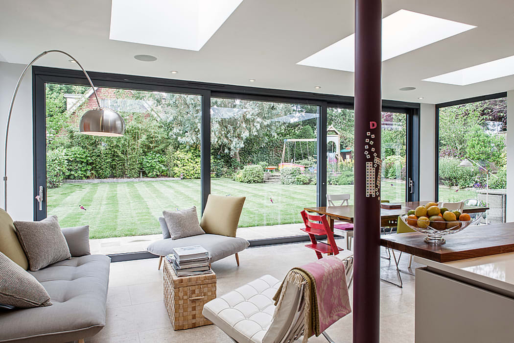 Essex Chic:  Living room by Nic  Antony Architects Ltd
