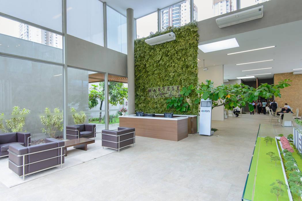 Jardim Vertical  Showroom Even Svetlana Plantas Preservadas Paisagismo de interior