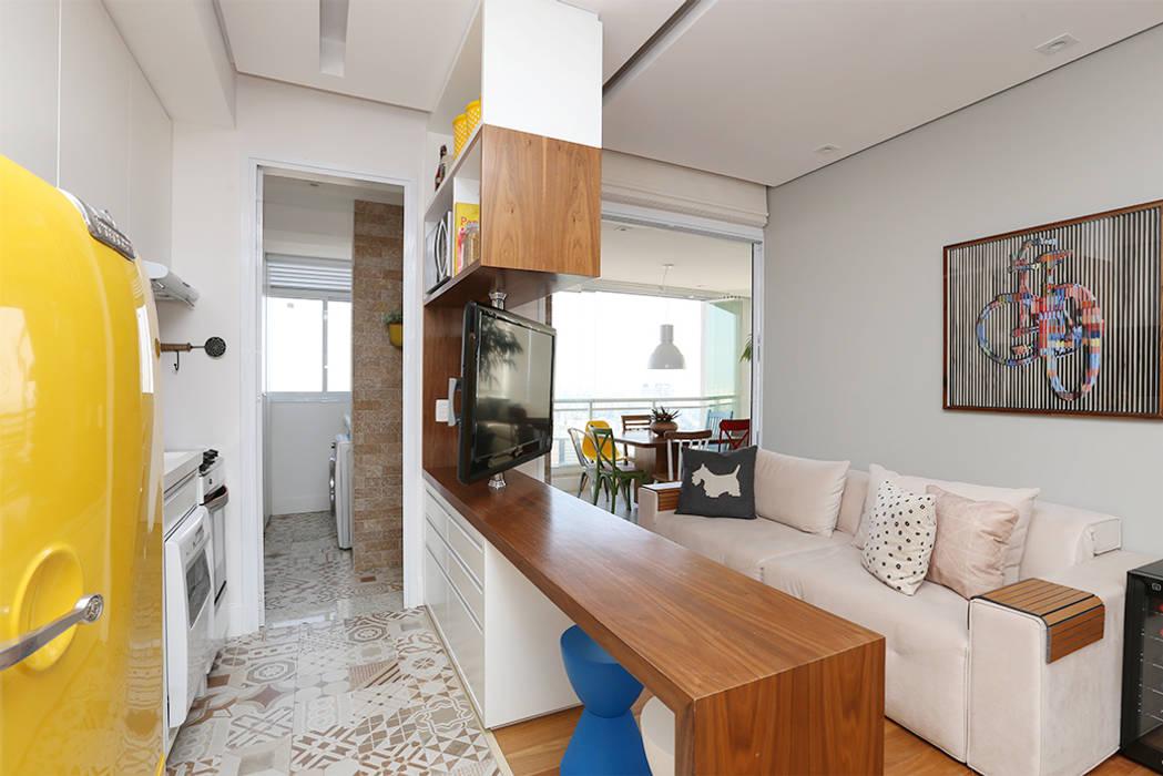 Duda Senna Arquitetura e Decoração Eclectic style living room