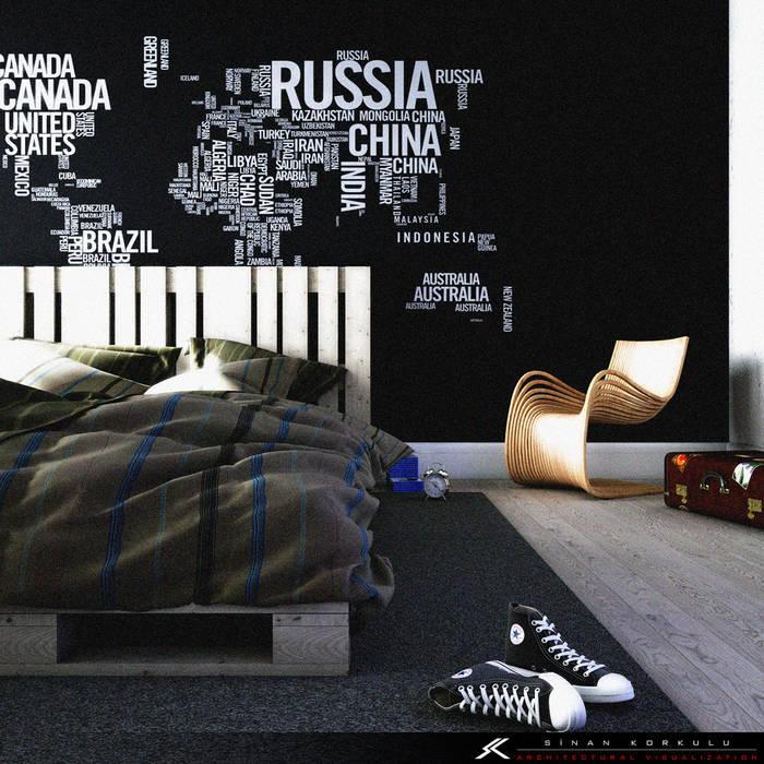 ミニマルスタイルの 寝室 の homify ミニマル