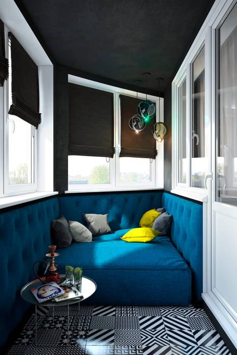SVAI Studio Eclectic style balcony, veranda & terrace