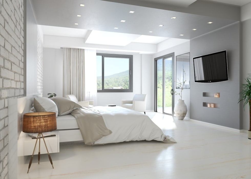 Modern Bedroom by ROAS ARCHITECTURE 3D DESIGN AGENCY Modern