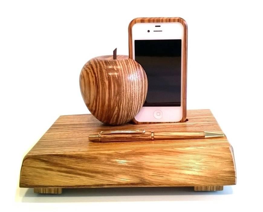 Dockingstation holz für apple iphone 4, 4s, ladestation aus ...