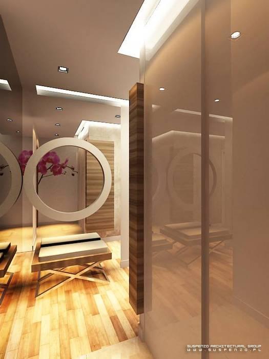 Apartament Ząbki: styl , w kategorii  zaprojektowany przez Projektowanie Wnętrz Suspenzo