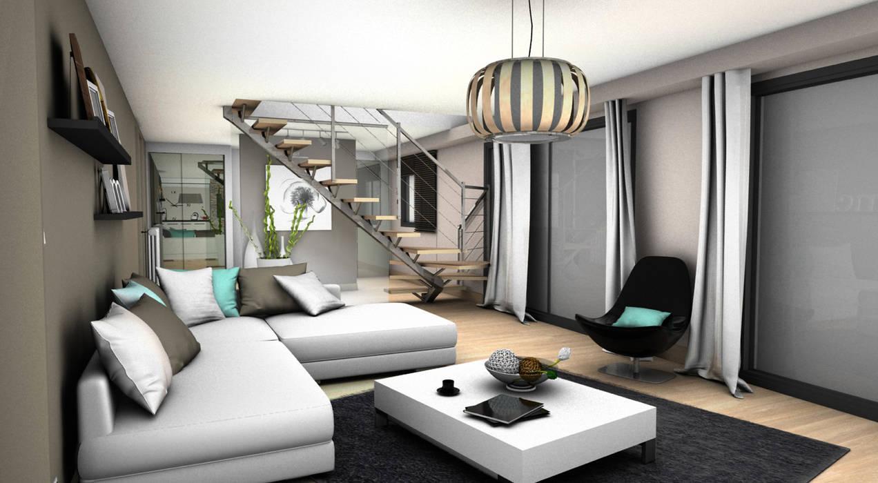 SALON 2: Salon de style de style Moderne par PYXIS Home Design