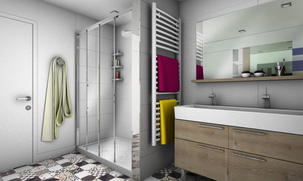SALLE DE BAIN 1: Salle de bains de style  par PYXIS Home Design