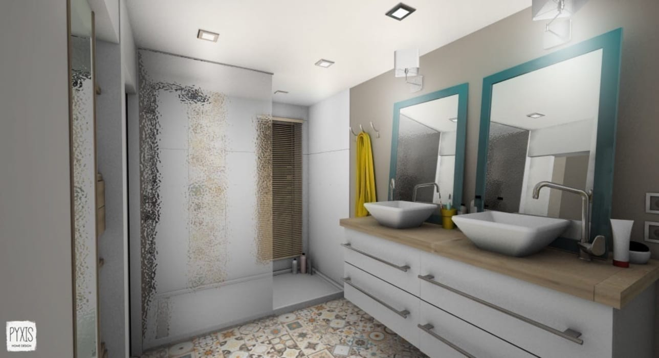 Salle de bain parentale : Salle de bains de style  par PYXIS Home Design