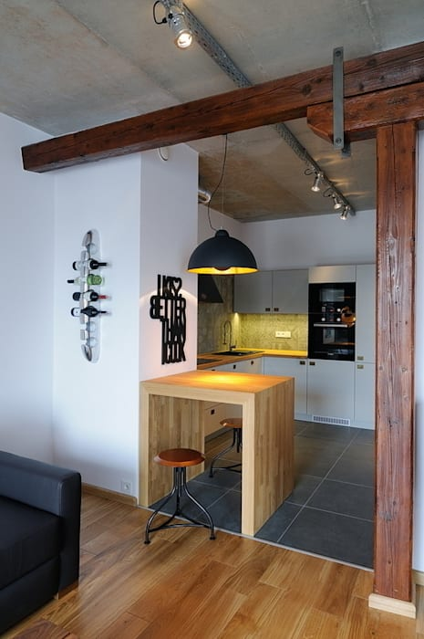 Industrial style kitchen by ARTEMA PRACOWANIA ARCHITEKTURY WNĘTRZ Industrial