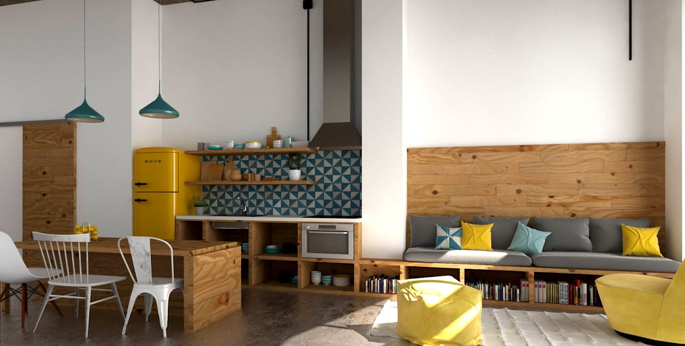 Kitchen by Hirukistudio, Industrial