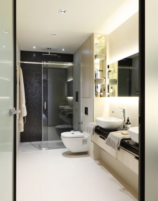 Roman House The Manser Practice Architects + Designers Modern bathroom