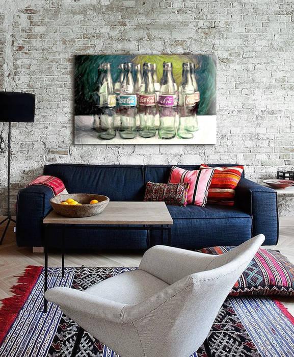 Industrial style living room by ESTUDIO DELIER Industrial