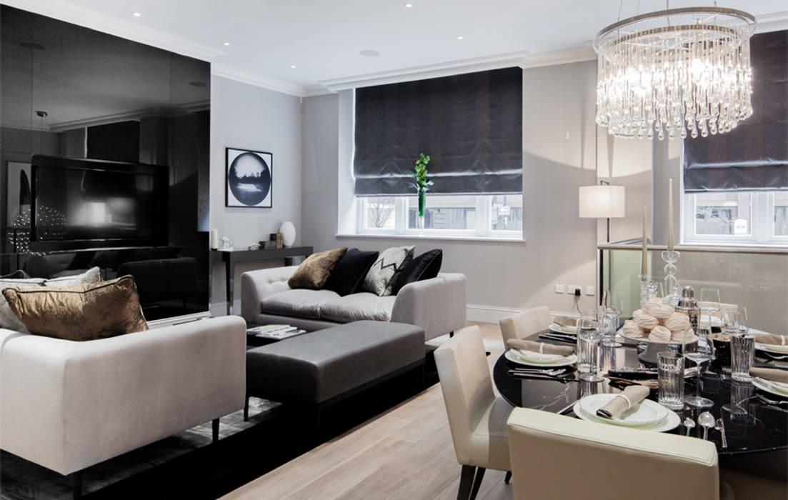 Leman Street 现代客厅設計點子、靈感 & 圖片 根據 The Manser Practice Architects + Designers 現代風