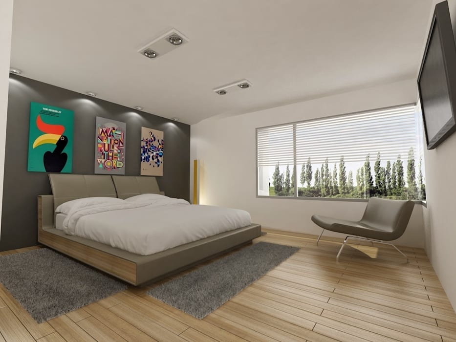Bedroom by Chazarreta-Tohus-Almendra, Modern