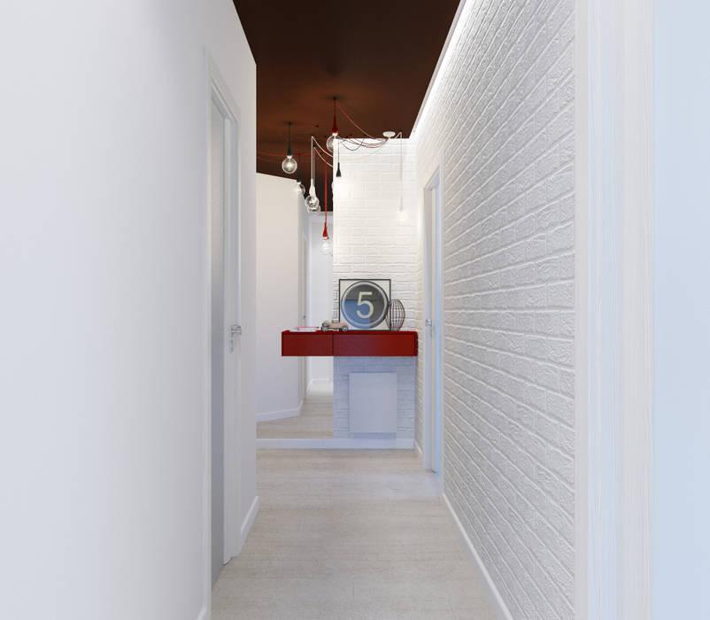 Интерьер квартиры для молодого человека: Коридор и прихожая в . Автор – Оксана Мухина, Минимализм
