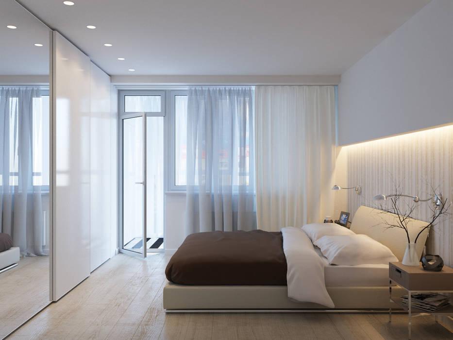 Интерьер квартиры для молодого человека Оксана Мухина Спальня в стиле минимализм