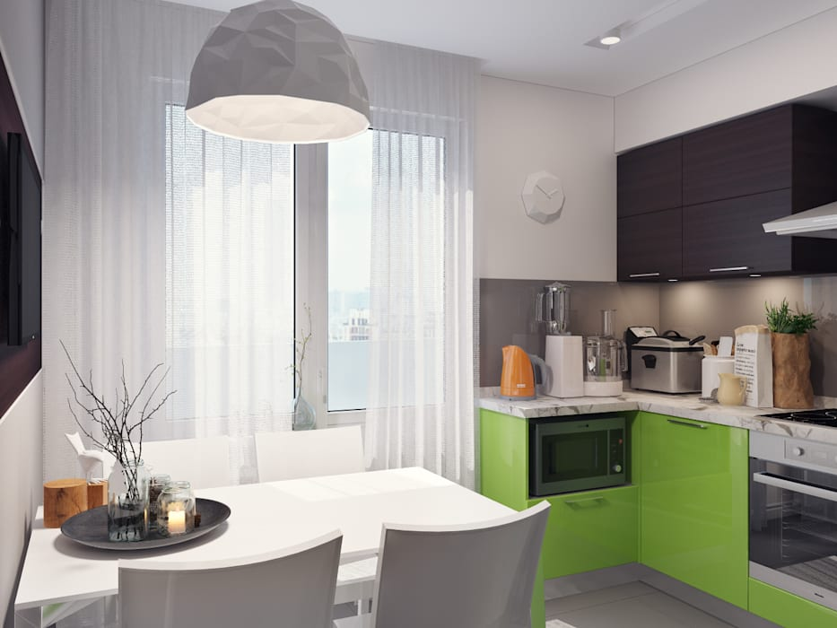 Eclectic style kitchen by Оксана Мухина Eclectic