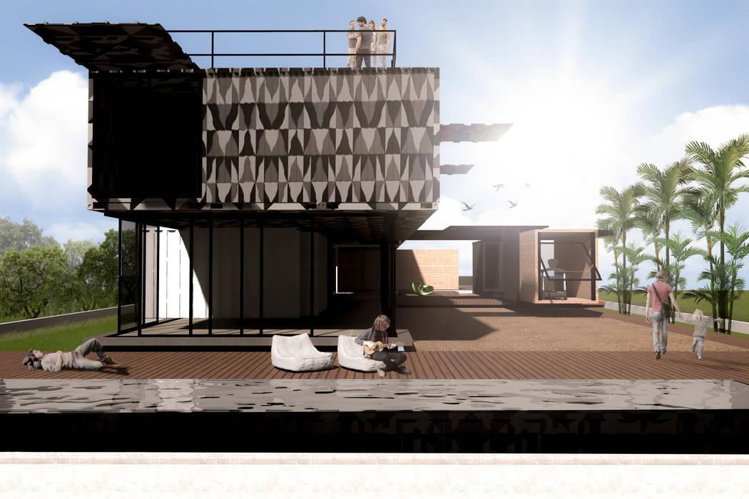 Casas modernas de Bruno Rubiano Moderno