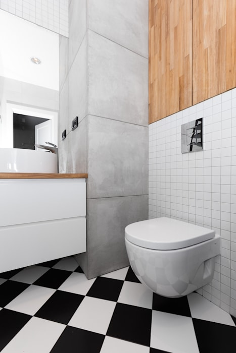 Bathroom by www.niewformie.pl, Minimalist