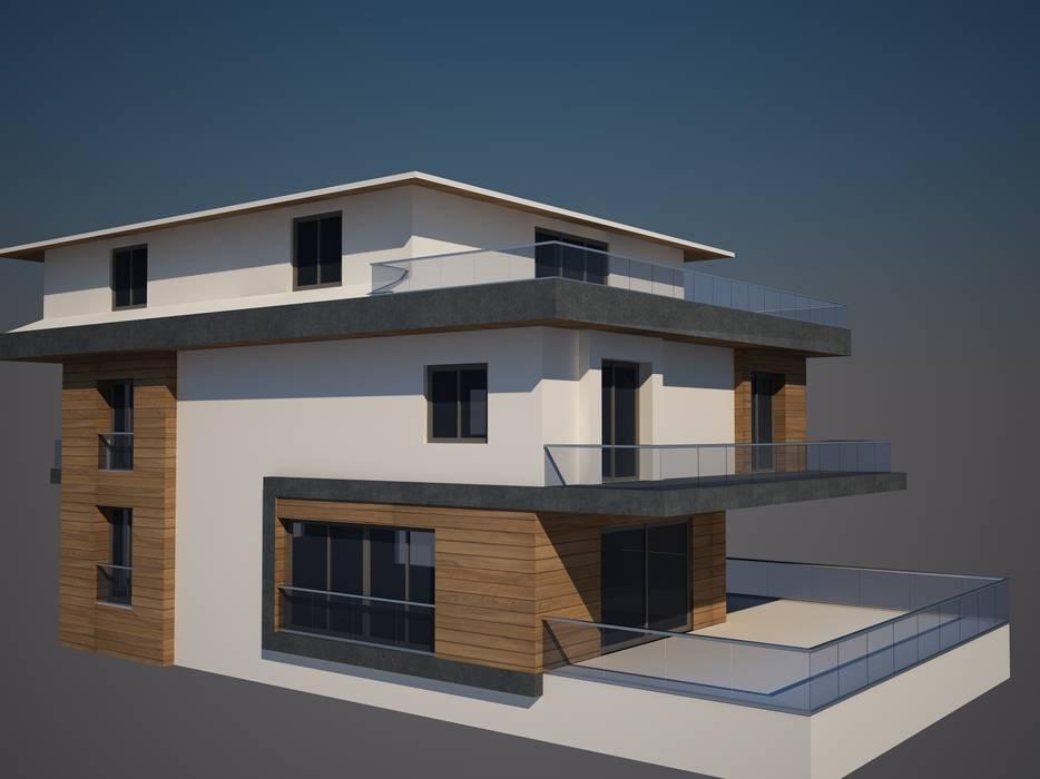 CANSEL BOZKURT  interior architect – cephe çalışmasından örnek:  tarz Evler, Modern