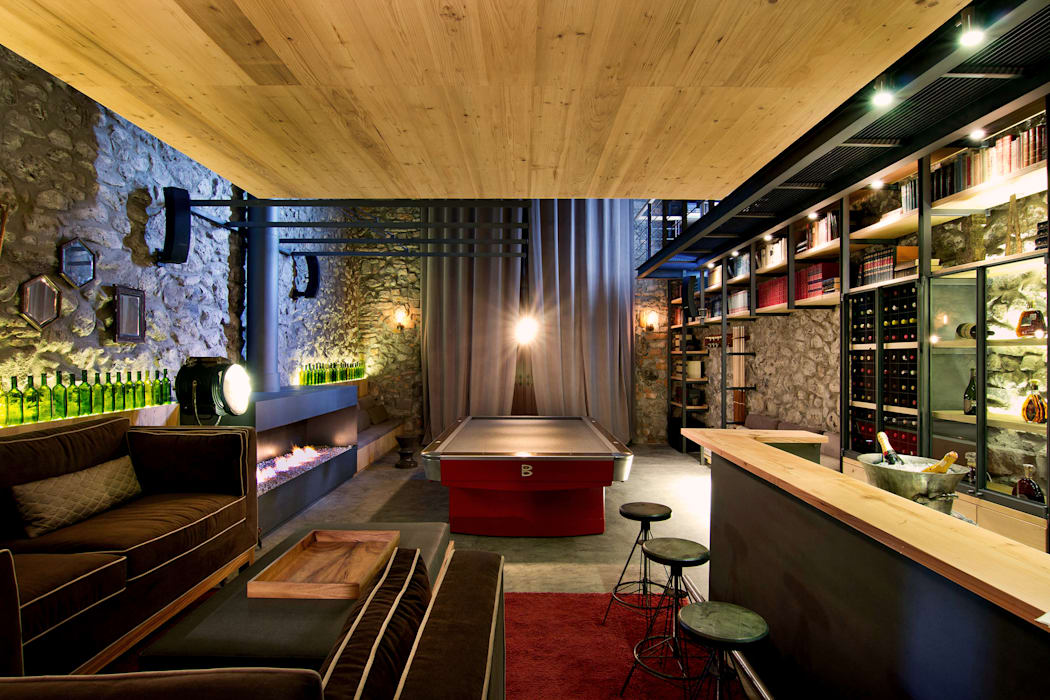 Weber Arquitectos Ruang Penyimpanan Wine/Anggur Gaya Eklektik