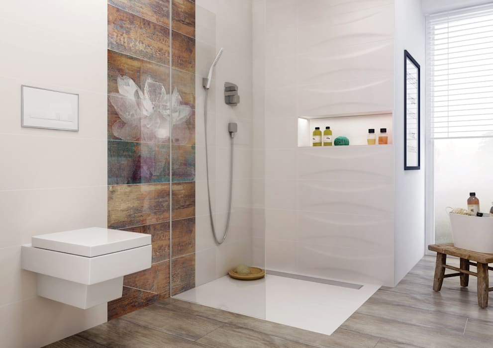Eclectic style bathroom by Ceramika Paradyż Eclectic