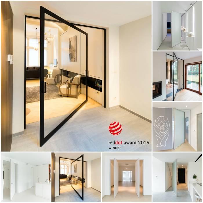 Taatsdeur concept zonder inbouwdelen in de vloer.:  Glazen deuren door Anyway Doors