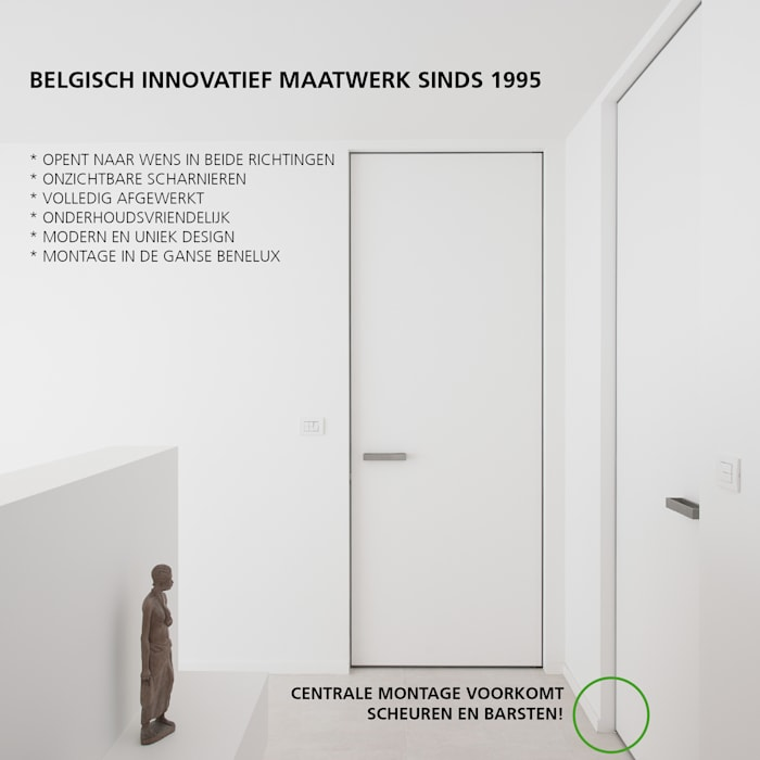 Onzichtbare deuren op maat van Anyway Doors Modern