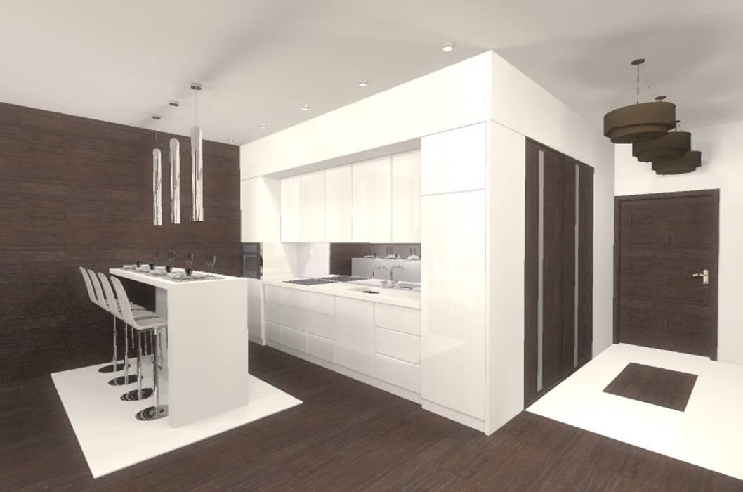Cocinas de estilo moderno de Marta Kożuch Interior Design Moderno